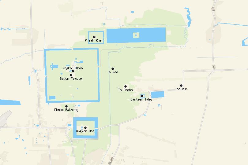 Map of Angkor
