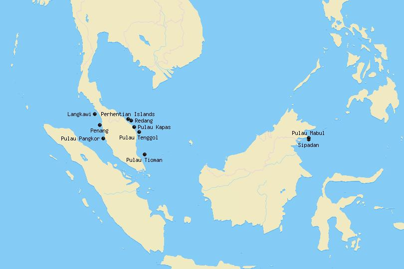 Map of Malaysian Islands