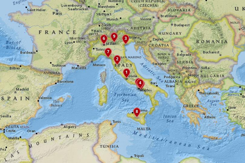 Map Of Italy With Towns.10 Best Places To Visit In Italy With Photos Map Touropia