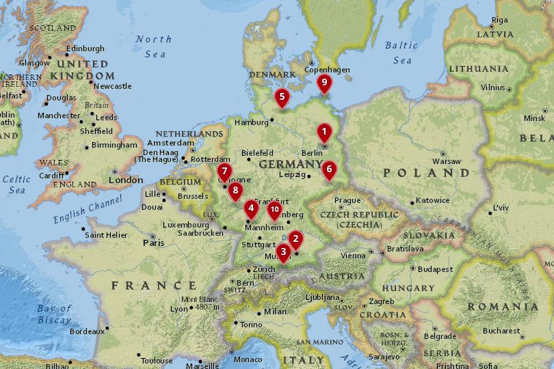 Map Of Germany Luxembourg Belgium.10 Best Places To Visit In Germany With Photos Map Touropia