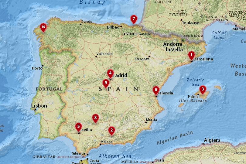 Map Of Spain With Barcelona.10 Best Places To Visit In Spain With Photos Map Touropia