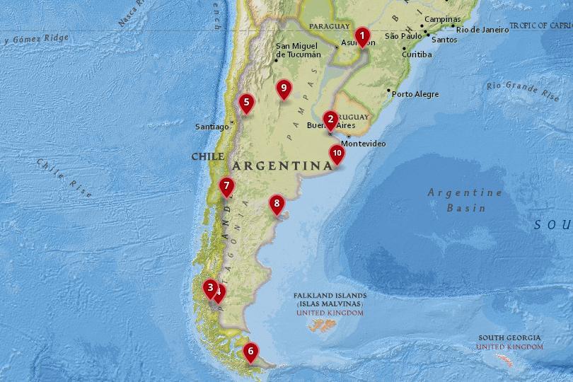 阿根廷地图
