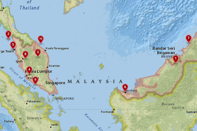 10 Best Places to Visit in Malaysia (with Photos & Map) - Touropia