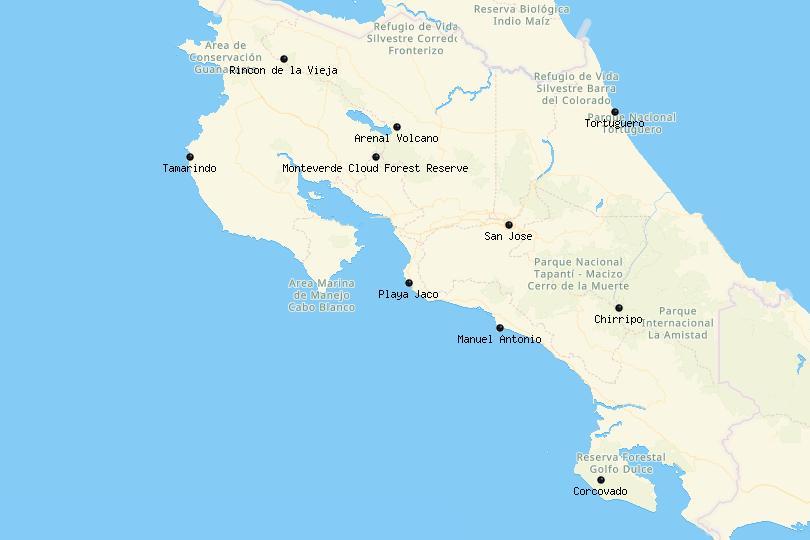 Costa Rica Map