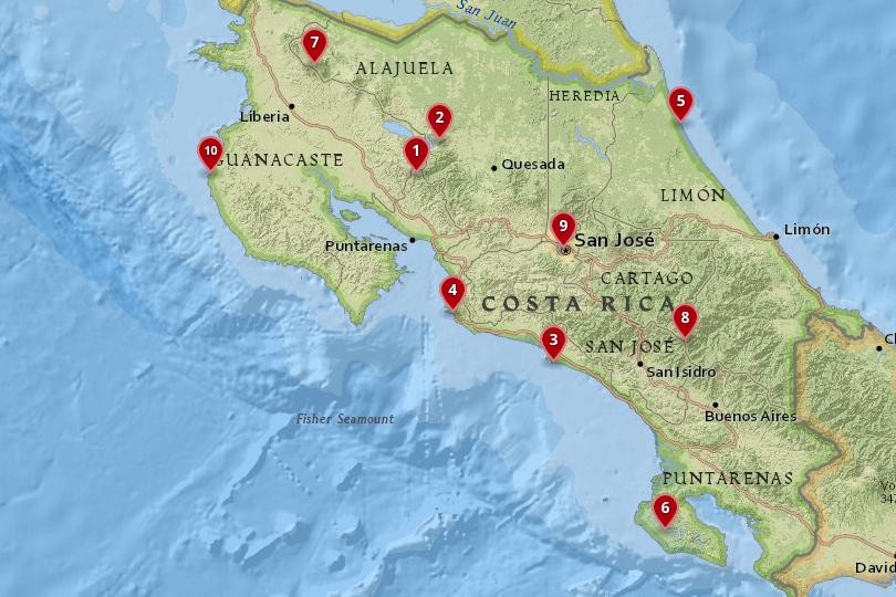 best map of costa rica 10 Best Places To Visit In Costa Rica With Map Photos Touropia best map of costa rica