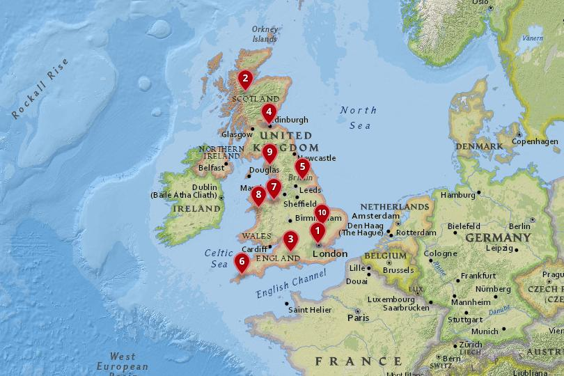 Map Of Uk And Scotland.10 Best Places To Visit In The Uk With Photos Map Touropia