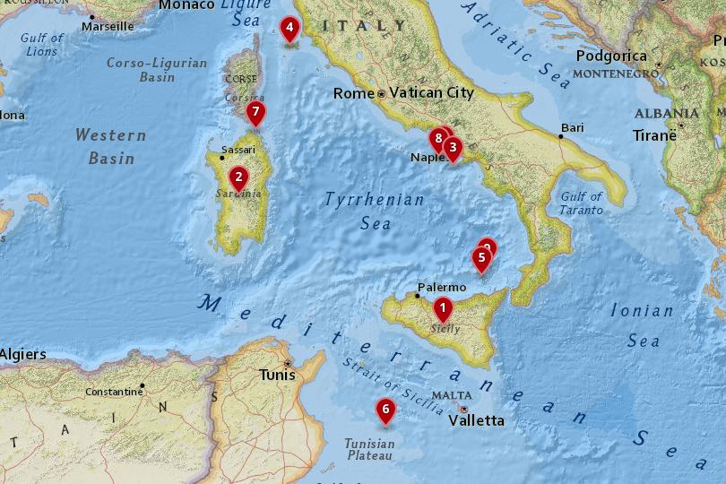 Map Of Italy In Italian.10 Most Beautiful Italian Islands With Photos Map Touropia