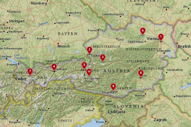 Map Of Italy And Austria With Cities.10 Best Places To Visit In Austria With Photos Map Touropia