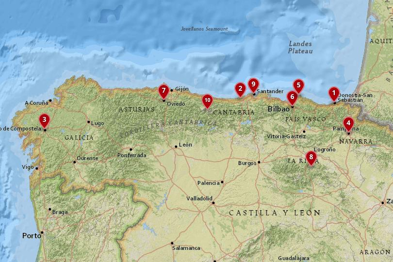 Map Of North Spain Coast.10 Most Amazing Destinations In Northern Spain With Photos Map