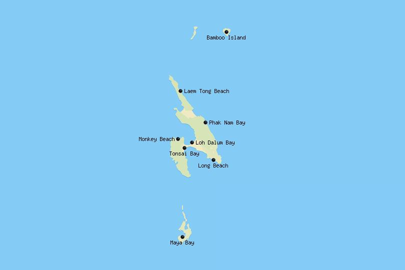 Map of Ko Phi Phi
