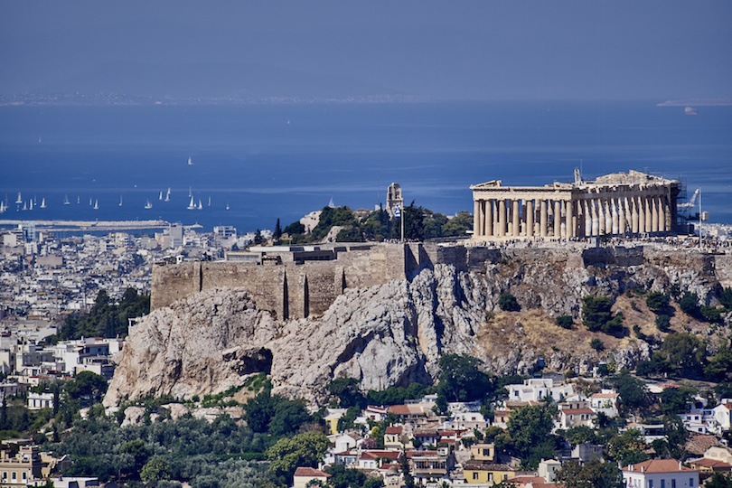 Acropolis and Saronic Gulf