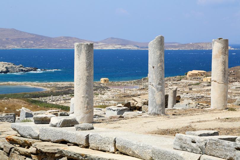 提洛岛的废墟
