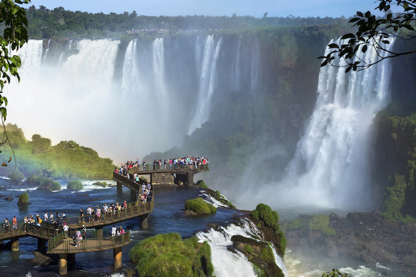 Tourists at Iguazu Falls, Foz do Iguacu