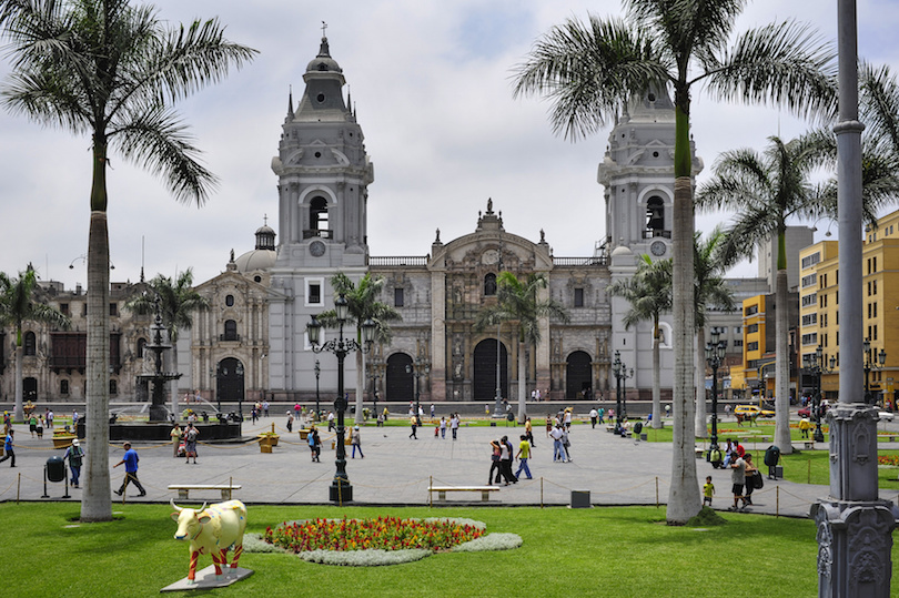 Cathedral at Plaza de Armas, Lima