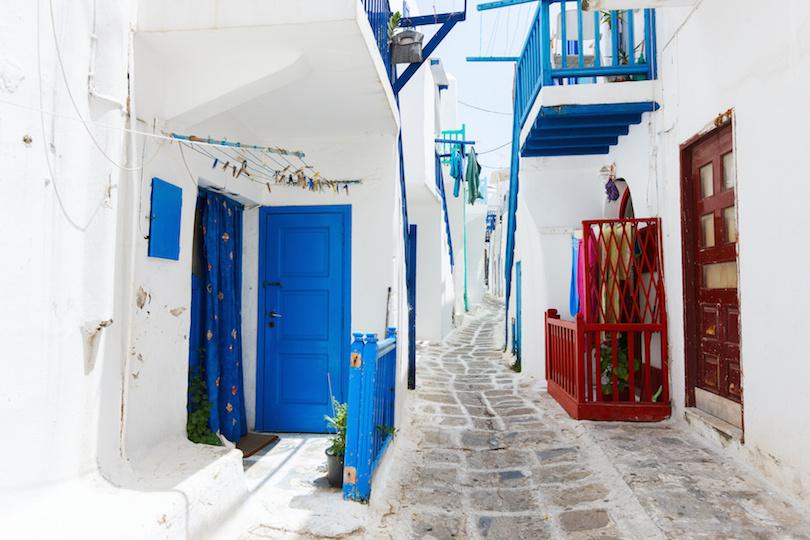 米科诺斯岛海岛传统街道