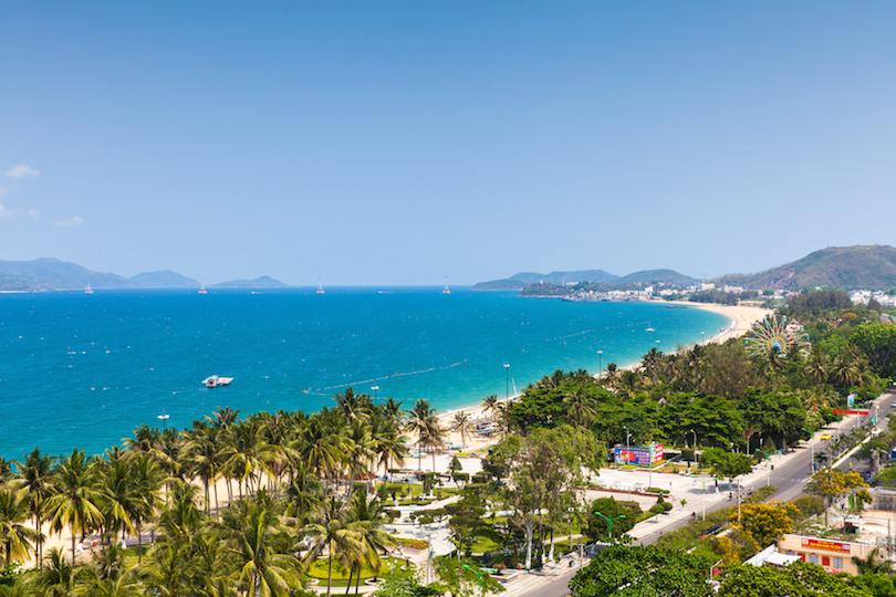 Aerial view over Nha Trang