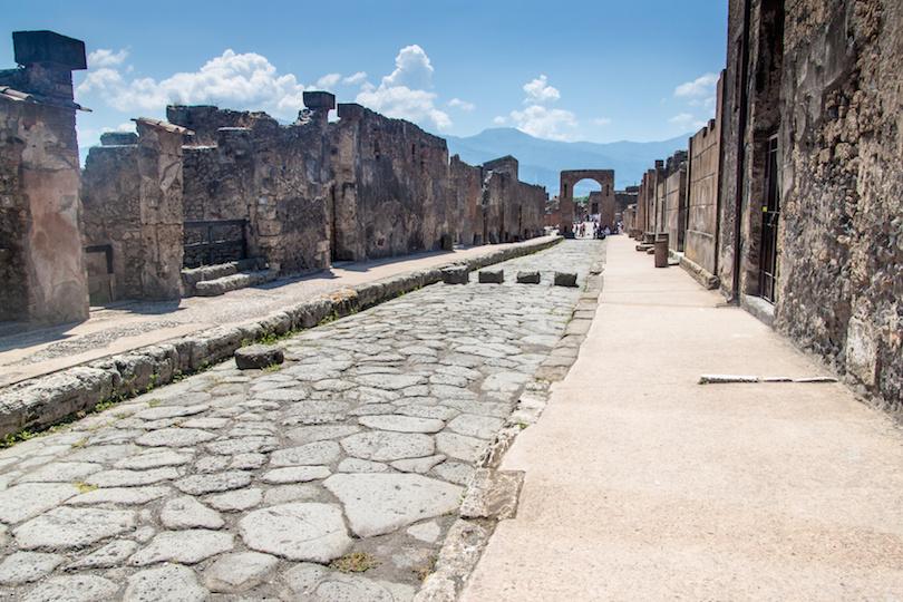 古城庞贝城的废墟
