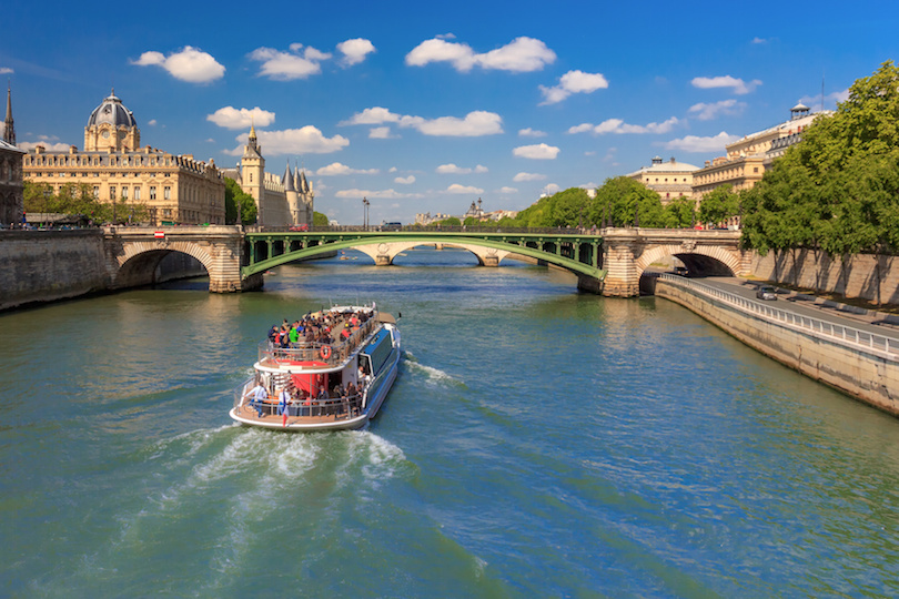 River Seine and the Conciergerie in Paris