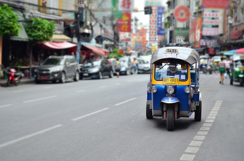 在曼谷的嘟嘟车