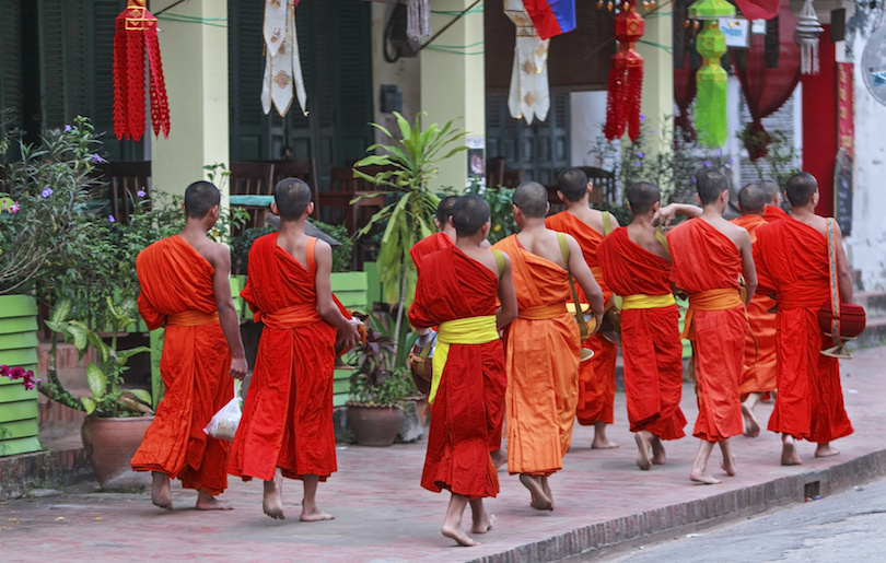 琅勃拉邦的和尚