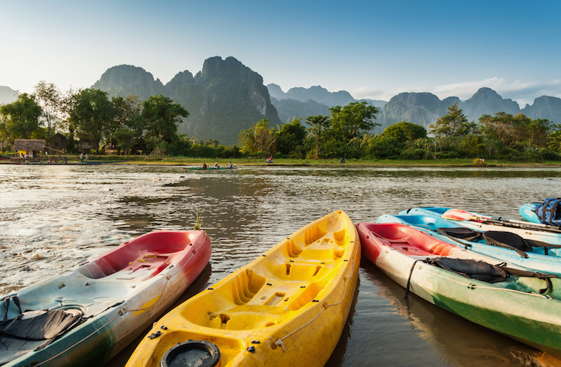 Nam Song river at Vang Vieng
