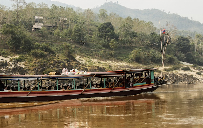 Slow boat on Mekong River