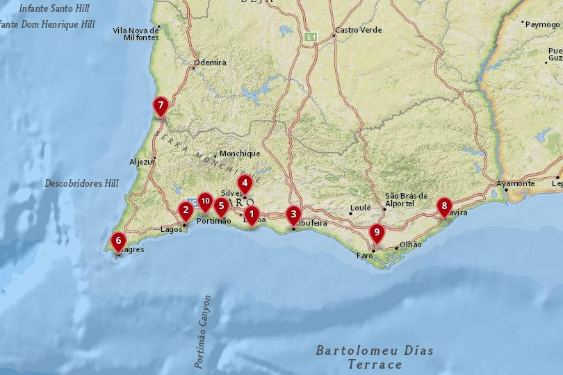 Map Of Southern Spain Resorts.10 Most Amazing Destinations In Southern Portugal With Photos Map
