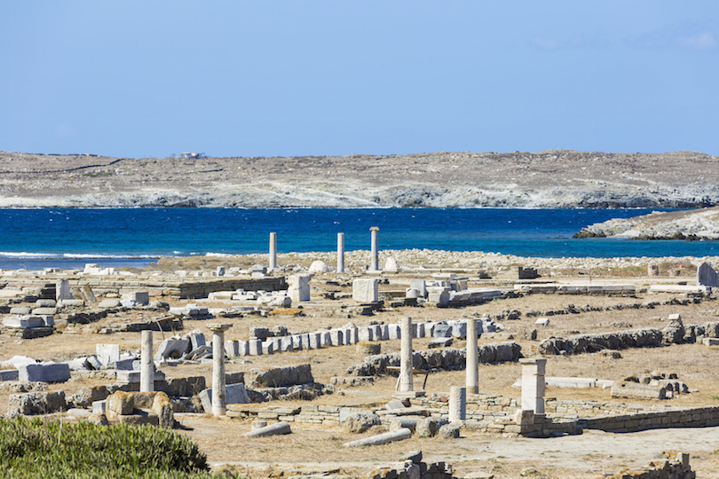 The island of Delos