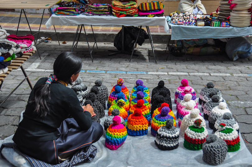 Colorful Sunday market in Otavalo