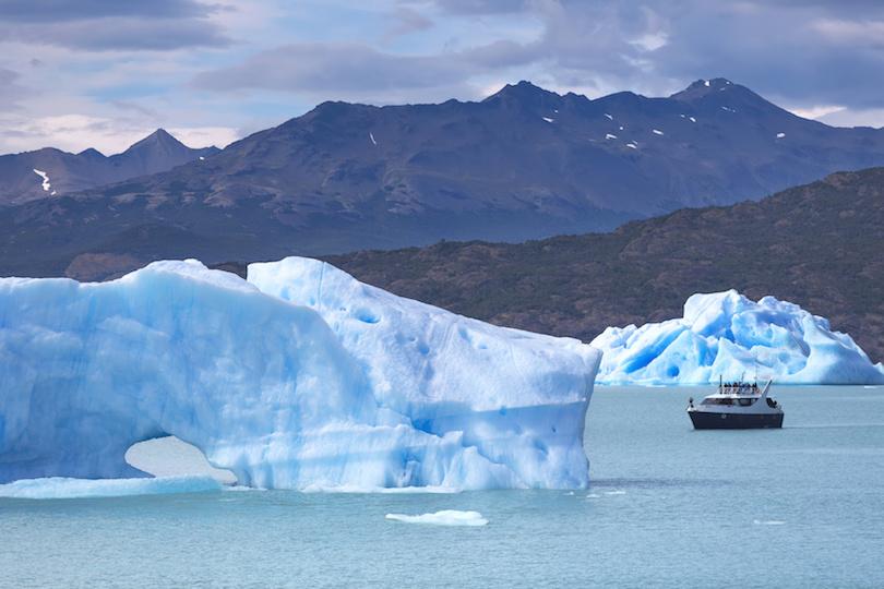冰山在阿根廷巴塔哥尼亚阿根廷湖