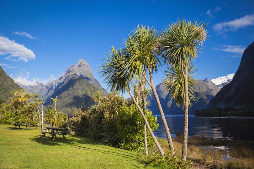 Mitre Peak in Milford Sound Neuseeland