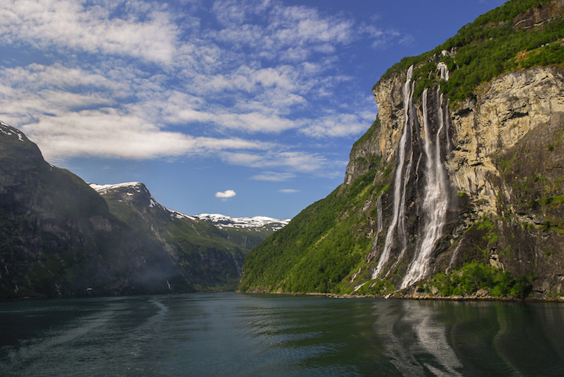 The Seven Sisters in Geirangerfjord