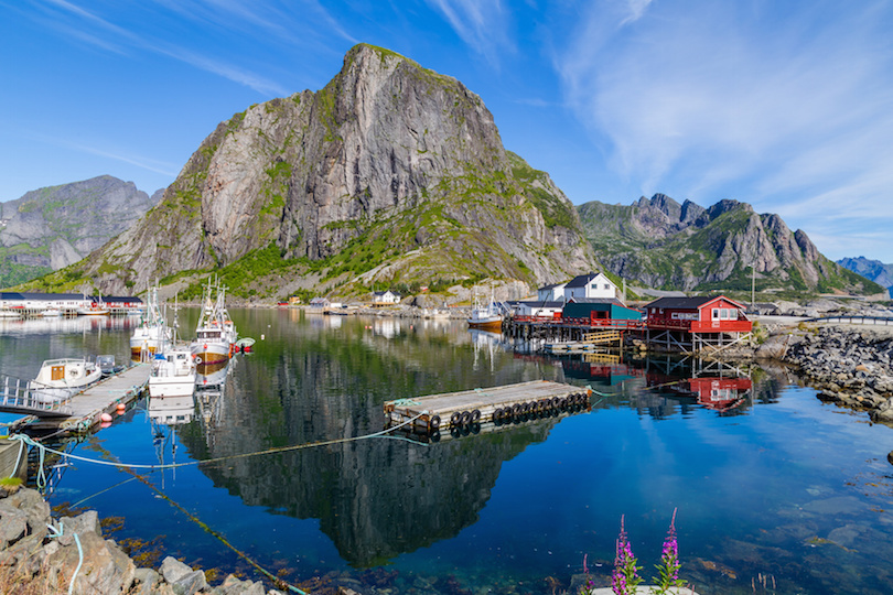 Picturesque harbor of Hamnoy Lofoten Islands, North Norway