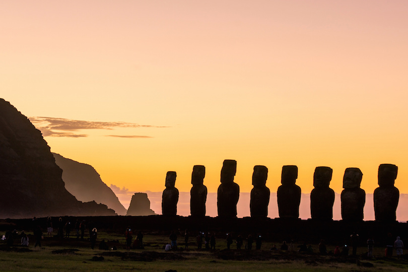 Moais at Ahu Tongariki in Easter island