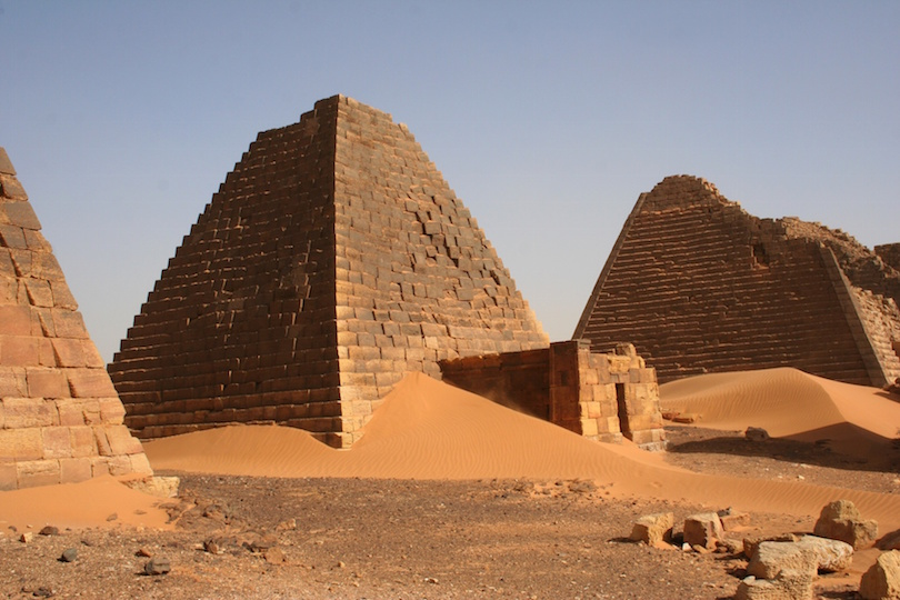 group of pyramids at meroe sudan