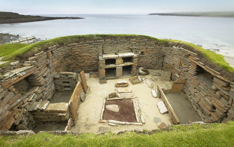 Skara Brae在苏格兰