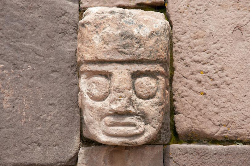 Tenon Head in Tiwanaku, Bolivia