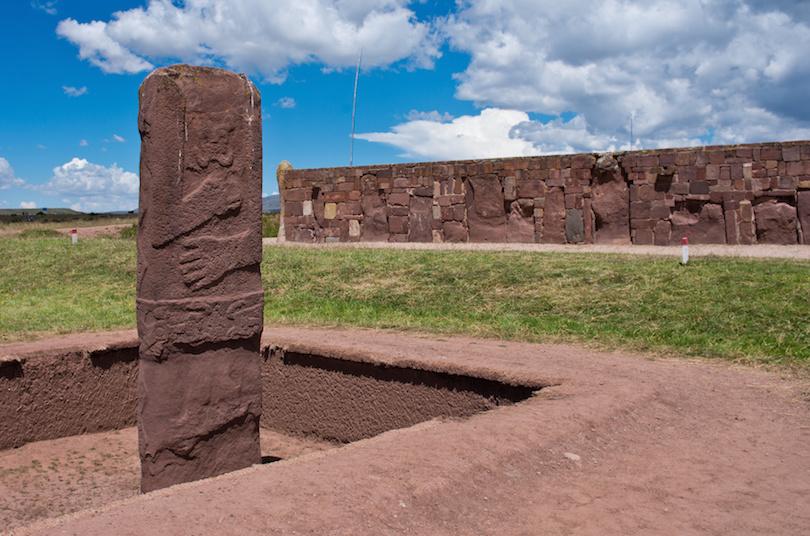 Tiwanaku Ruins in Bolivia