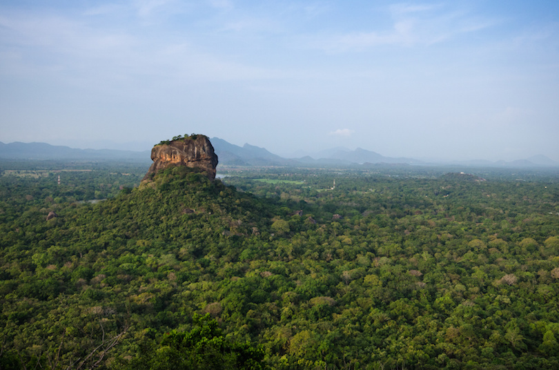 Sigiriya Rock Fortress, seen from Pidurangala Rock, Sri Lanka