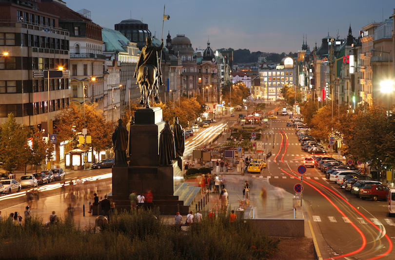 The Wenceslas Square, Prague