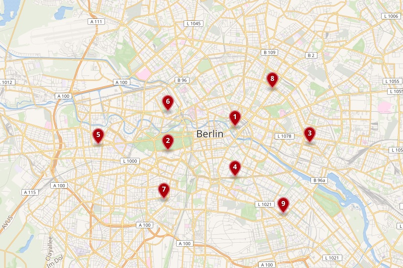 Berlin area map
