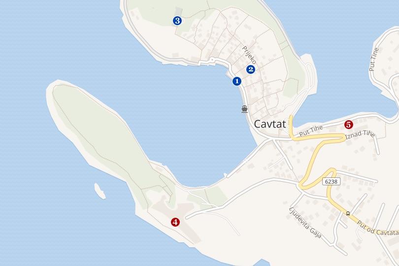 dubrovnik cavtat map