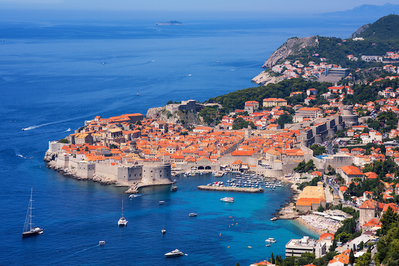 The historical old town of Dubrovnik, Croatia