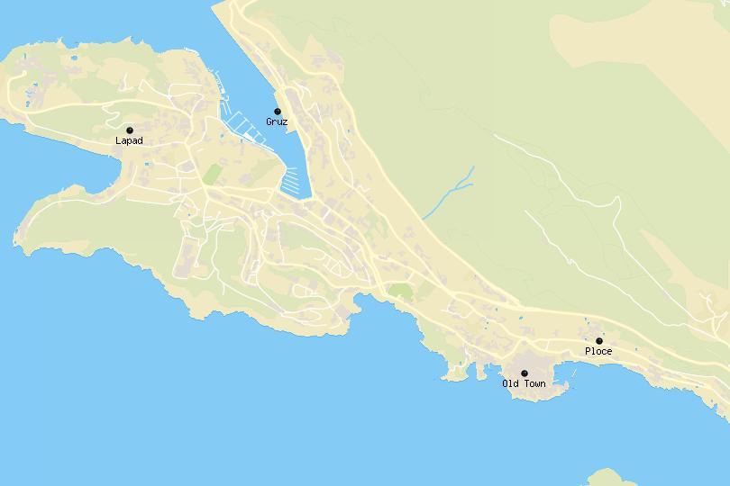 Dubrovnik area map
