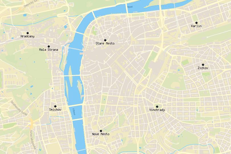 Prague Area Map