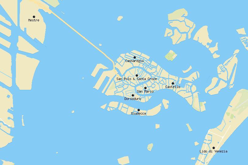 Venice area map