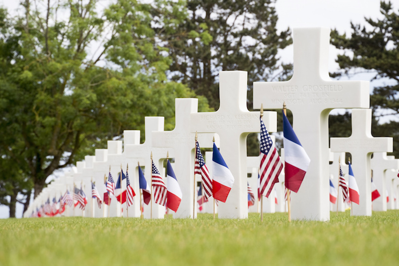 Crosses in the Normandy American Cemetery and Memorial