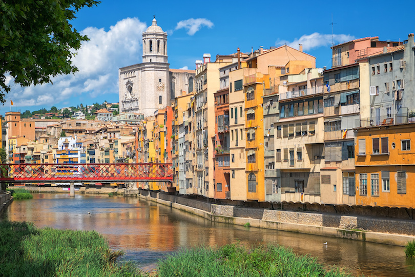 Cityscape of Girona, Catalonia, Spain