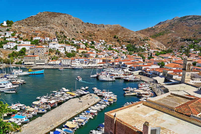 Hydra island port, Greece
