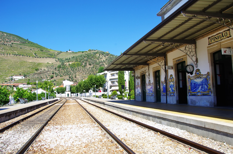 Station of Pinhao village, Portugal